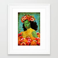 Bee Lady (Re-imagned Tre… Framed Art Print