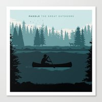 Paddle The Great Outdoors Canvas Print