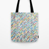 Herringbone Colour Tote Bag