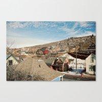 Ski Town 2 Canvas Print