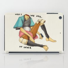 When I Was Little, My Father Was Famous. (Type) iPad Case