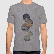 Mobile Sky Mens Fitted Tee Athletic Grey SMALL