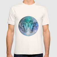 MOON BUTTERFLY Mens Fitted Tee Natural SMALL