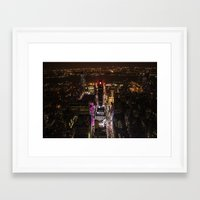 Looking down over Times Square Framed Art Print