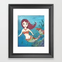 Somewhere Under the Sea Framed Art Print