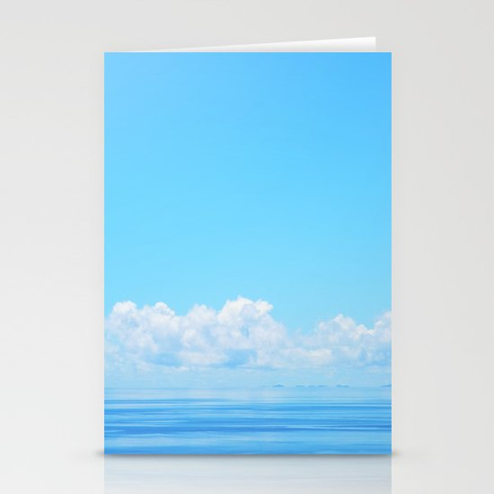 Pacific blues Stationery Card