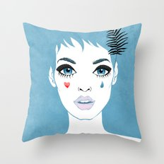 Сrying girl Throw Pillow