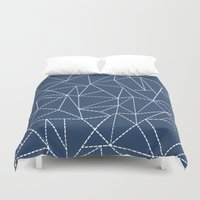 Ab Dotted Lines Navy Duvet Cover