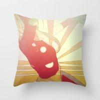 Hurry On Sundown Throw Pillow