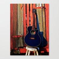 Guitar Sunset Canvas Print