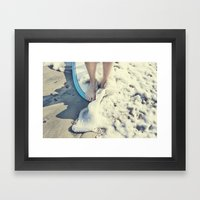 toes on the nose  Framed Art Print