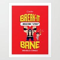 Break-It Bane W/ Build-I… Art Print