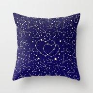 Star Lovers Throw Pillow