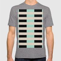Tan Black Mint Checkerboard Mens Fitted Tee Tri-Grey SMALL