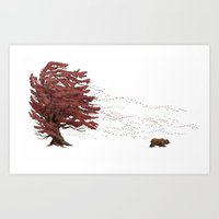 Winter Came Early That Y… Art Print