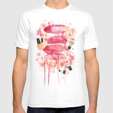 Bleeding lips White SMALL Mens Fitted Tee