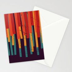Squared Stripes Stationery Cards