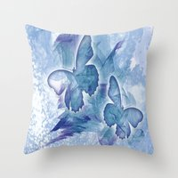 Fly butterfly fly Throw Pillow