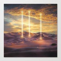 Escape through the light Canvas Print