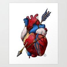 Heart Attack Art Print