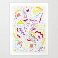 Pastel Postmodern doodle Art Print