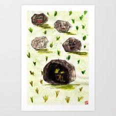 I Stuck in the Stone!!! Art Print