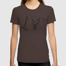 Love  Womens Fitted Tee Brown SMALL