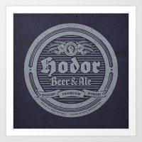 Hodor Premium Art Print