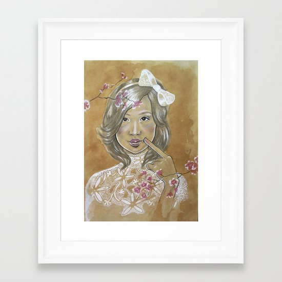 Kawaii Culture Framed Art Print