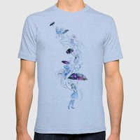 Adrift in Glitch Mens Fitted Tee Athletic Blue SMALL