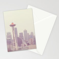 Thinking of you. Seattle skyline Space Needle photograph Stationery Cards