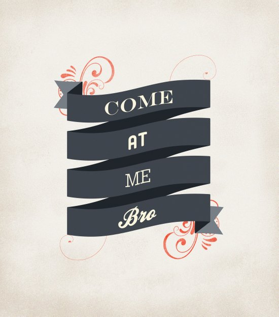 Come At Me Bro! Canvas Print