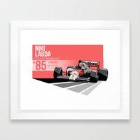 Niki Lauda - 1985 Zandvoort Framed Art Print