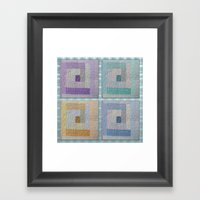 Country Quilt  Framed Art Print