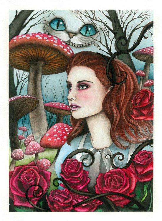 Alice in W-land Art Print