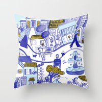 Topsy Town Throw Pillow