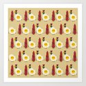 bacon and egg Art Print