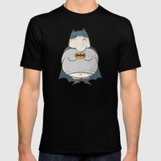 Too Fat To Bat SMALL Mens Fitted Tee Black
