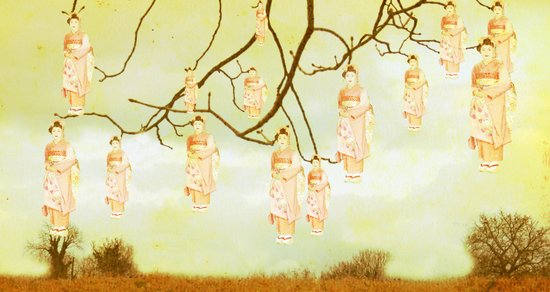Geisha Tree Art Print