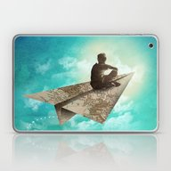 Laptop & iPad Skin featuring Paper Aeroplane by Dan Elijah G. Fajard…