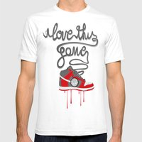 I Love This Game Mens Fitted Tee White SMALL