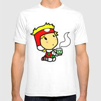 Santakun Mens Fitted Tee White SMALL