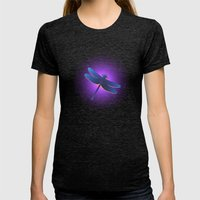 Dragonfly Womens Fitted Tee Tri-Black SMALL