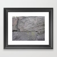 Getting stone walled Framed Art Print