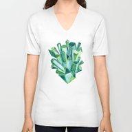 Emerald Watercolor Unisex V-Neck