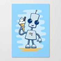 Ned's Ice Cream Canvas Print