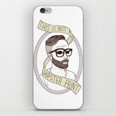 This Is Not A Hipster Print iPhone & iPod Skin