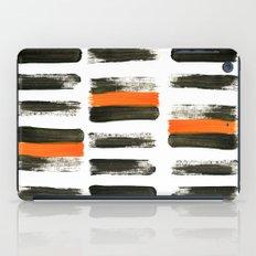 orange stripes iPad Case