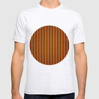 Yipes! Stripes! Mens Fitted Tee Ash Grey SMALL