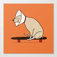 Cone Of Shame Won't Stop… Canvas Print
